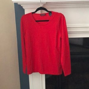 Saks fifth avenue red cashmere sweater size medium